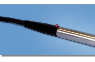 Stainless-steel, cylindrical probe head / RamanProbe
